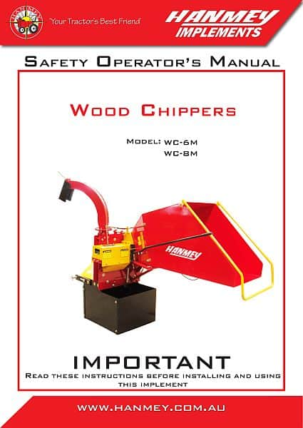 Wood chipper safety operation manual