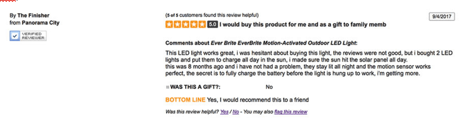 review_4 EverBrite Lighting and Its Alternatives Reviews