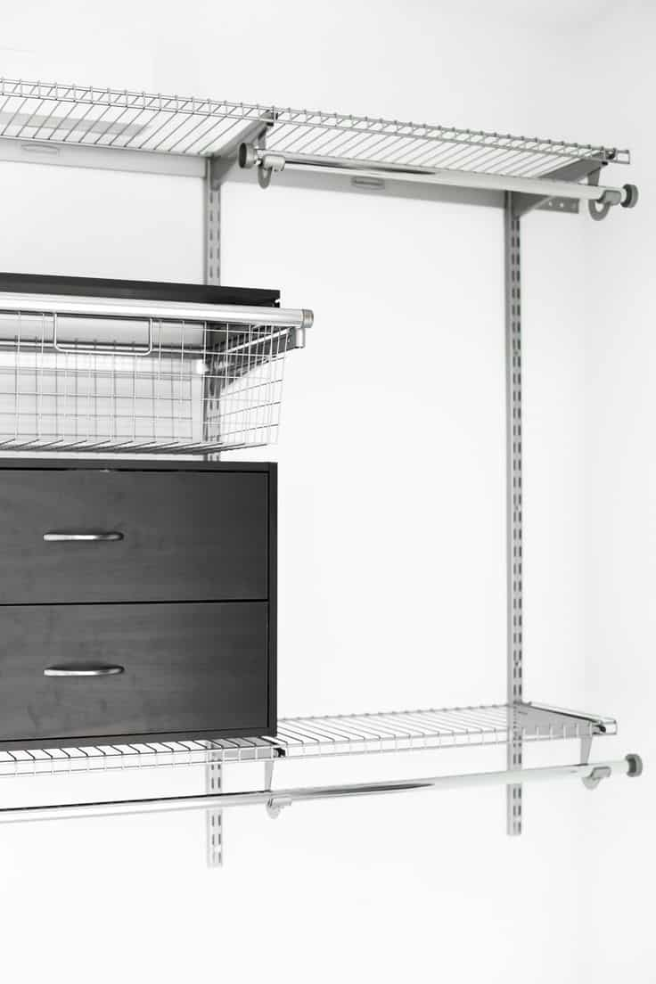 Rubbermaid 4-8 ft. Deluxe Configurations Closet Kit Review: Durable and Maintenance Free