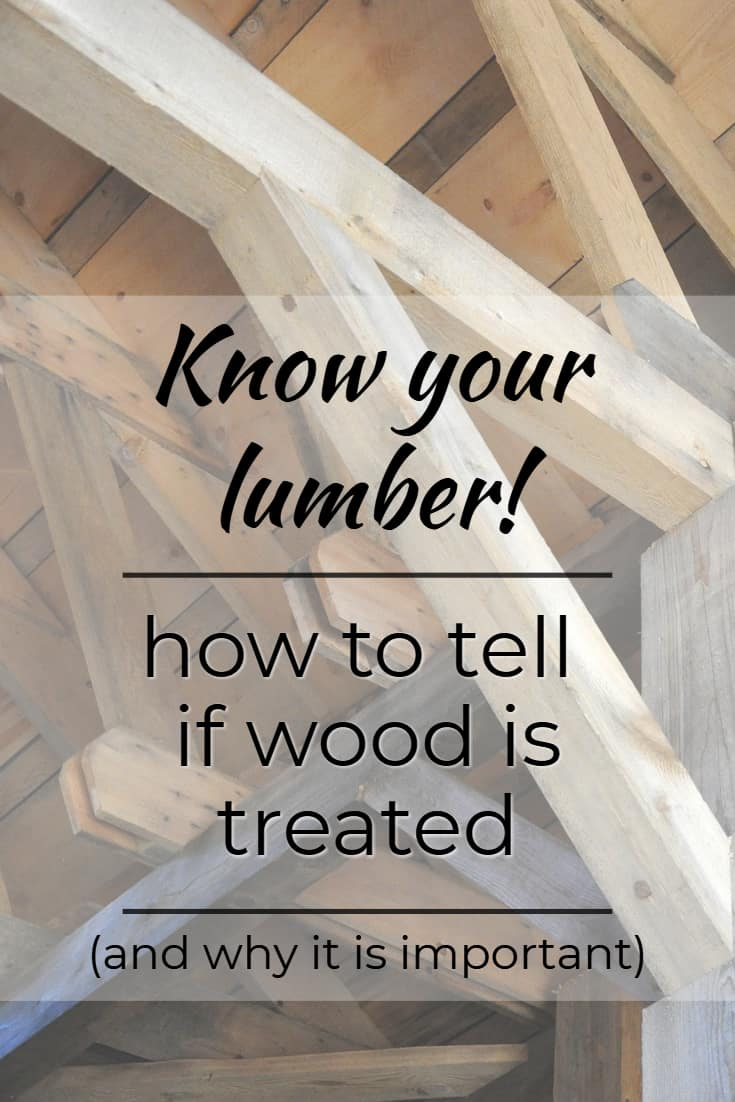 How to tell if wood is treated? Look for these signs #wood #backyard #homeImprovement