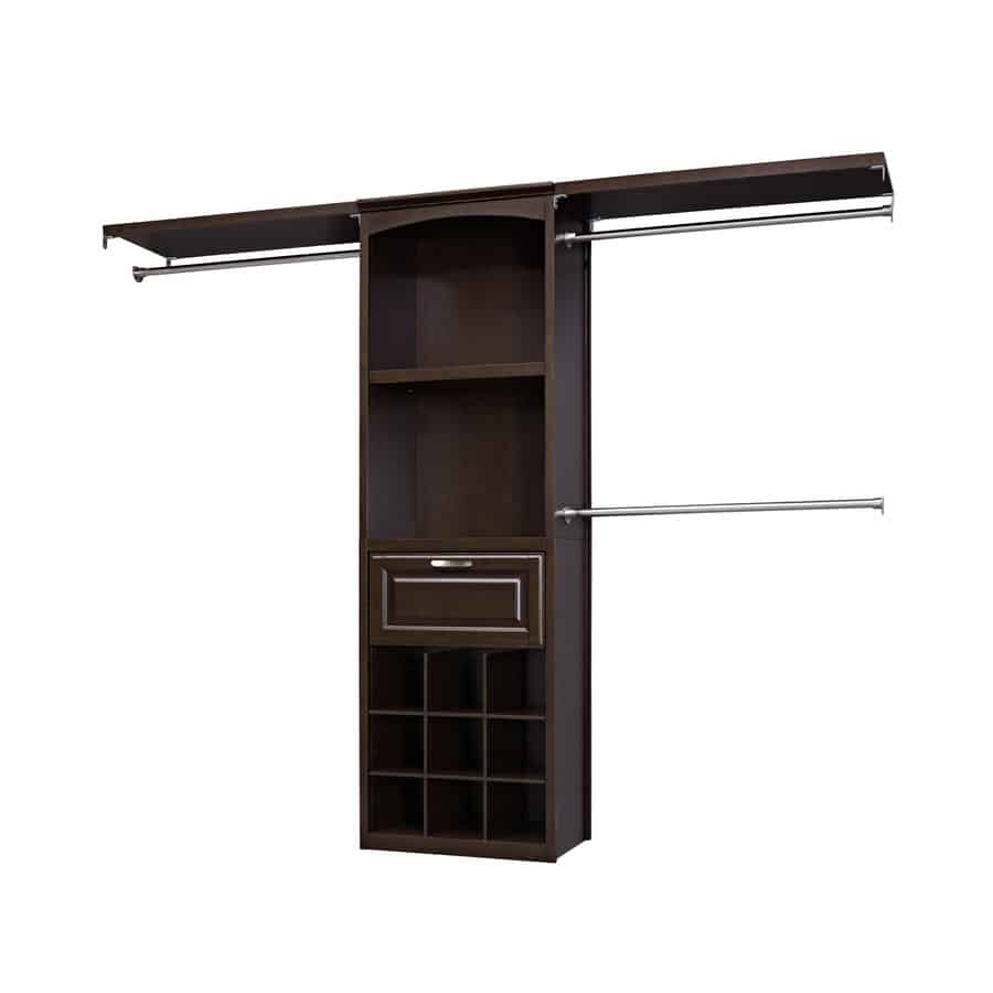 Allen Roth Closet: 8-ft x 6.83-ft Java Wood Closet Kit