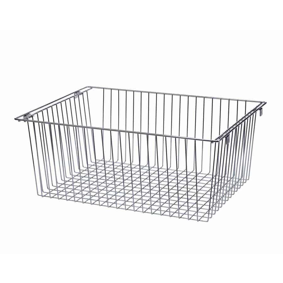 Allen Roth Closet: Nickel Wire Basket