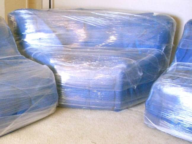 27 Awesome Tested Tips For Your Moving Day: movers furniture shrink wrap