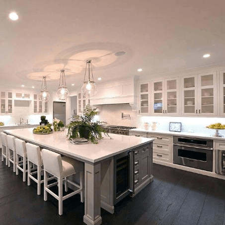 How Far Apart Should Pendant Lights Be Over An Island In The Kitchen? A Guide to Spacing Pendant Lights Over Kitchen Island: 5 foot long kitchen island