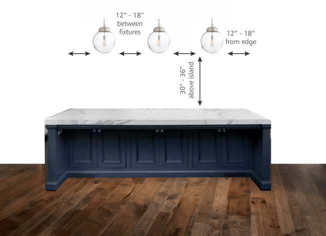 How Far Apart Should Pendant Lights Be Over An Island In The Kitchen? A Guide to Spacing Pendant Lights Over Kitchen Island: proper measurement