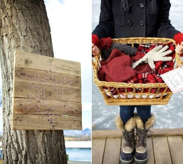 Outdoor winter party ideas: Gloves and Scarves