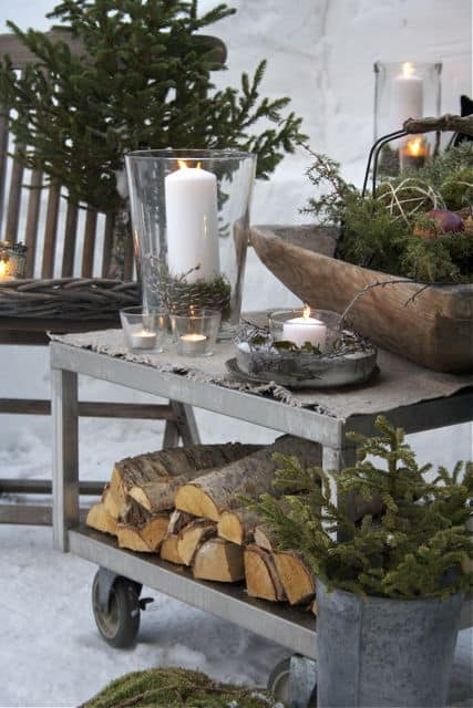 Winter outdoor party decor #outdoorparty #backyardParty #outdoorPartyIdeas #winter #backyardDecor #backyard #patio