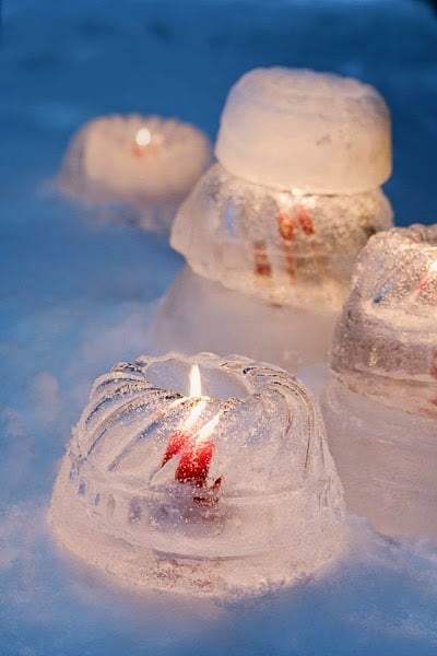 Outdoor winter party ideas: Winter lighting
