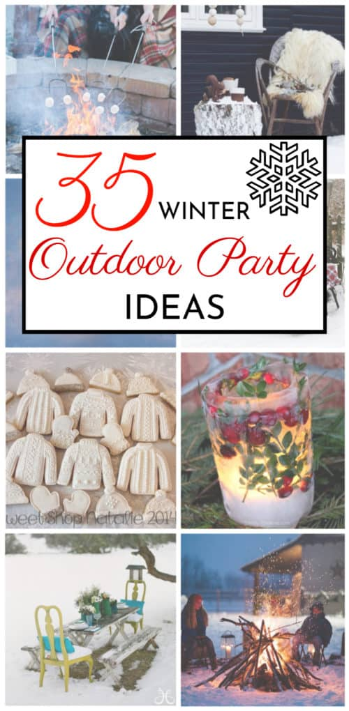 outdoor winter party ideas