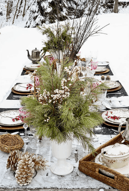 Outdoor winter party ideas: Festive Feast outdoor