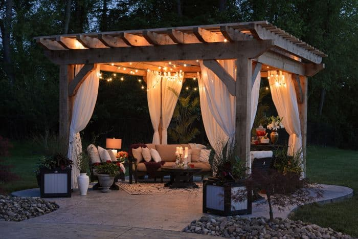 What is the purpose of a Pergola - night small