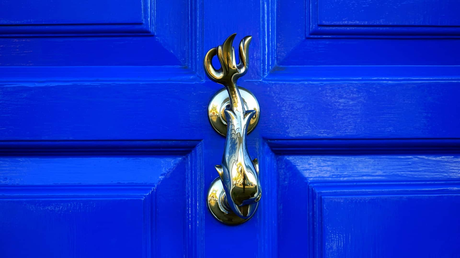 Curb appeal: Hang a unique door knocker  #curbAppealProjects #curbAppeal #houseExterior #homeExterior #homeExteriorIdeas #houseDesign