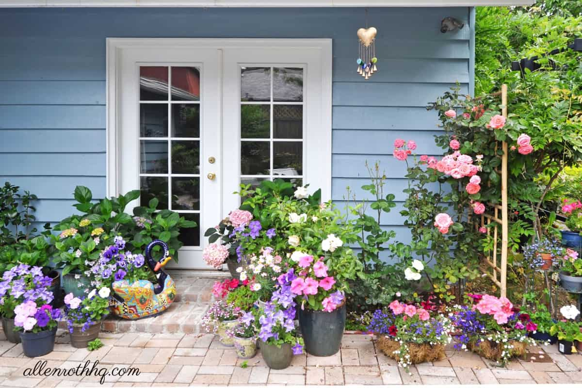Curb appeal: Add potted flowers to your porch