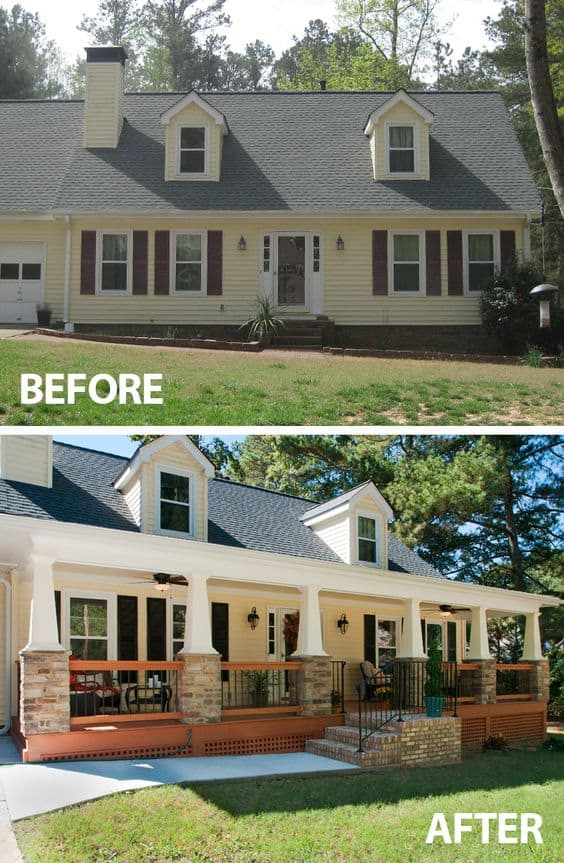 Curb appeal tip: Add a new porch to increase your home value and an appeal to potential home buyers