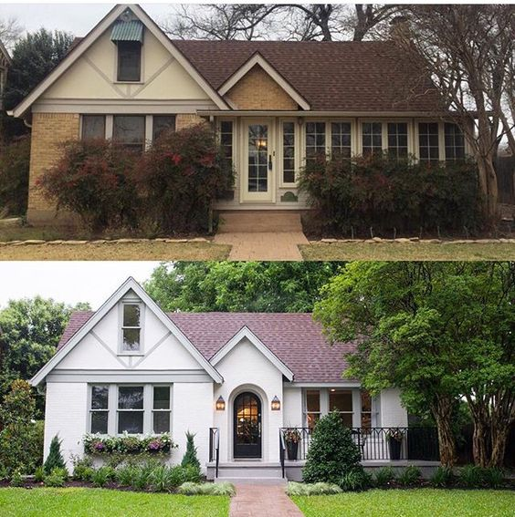 Repaint your house exterior #curbAppealProjects #curbAppeal #houseExterior #homeExterior #homeExteriorIdeas #houseDesign #homeMakeover  #beforeafter