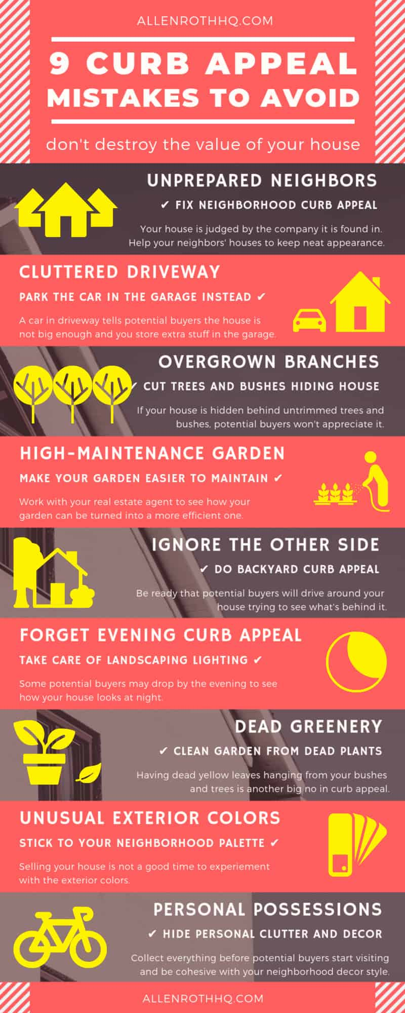 9 top mistakes of curb appeal infographic