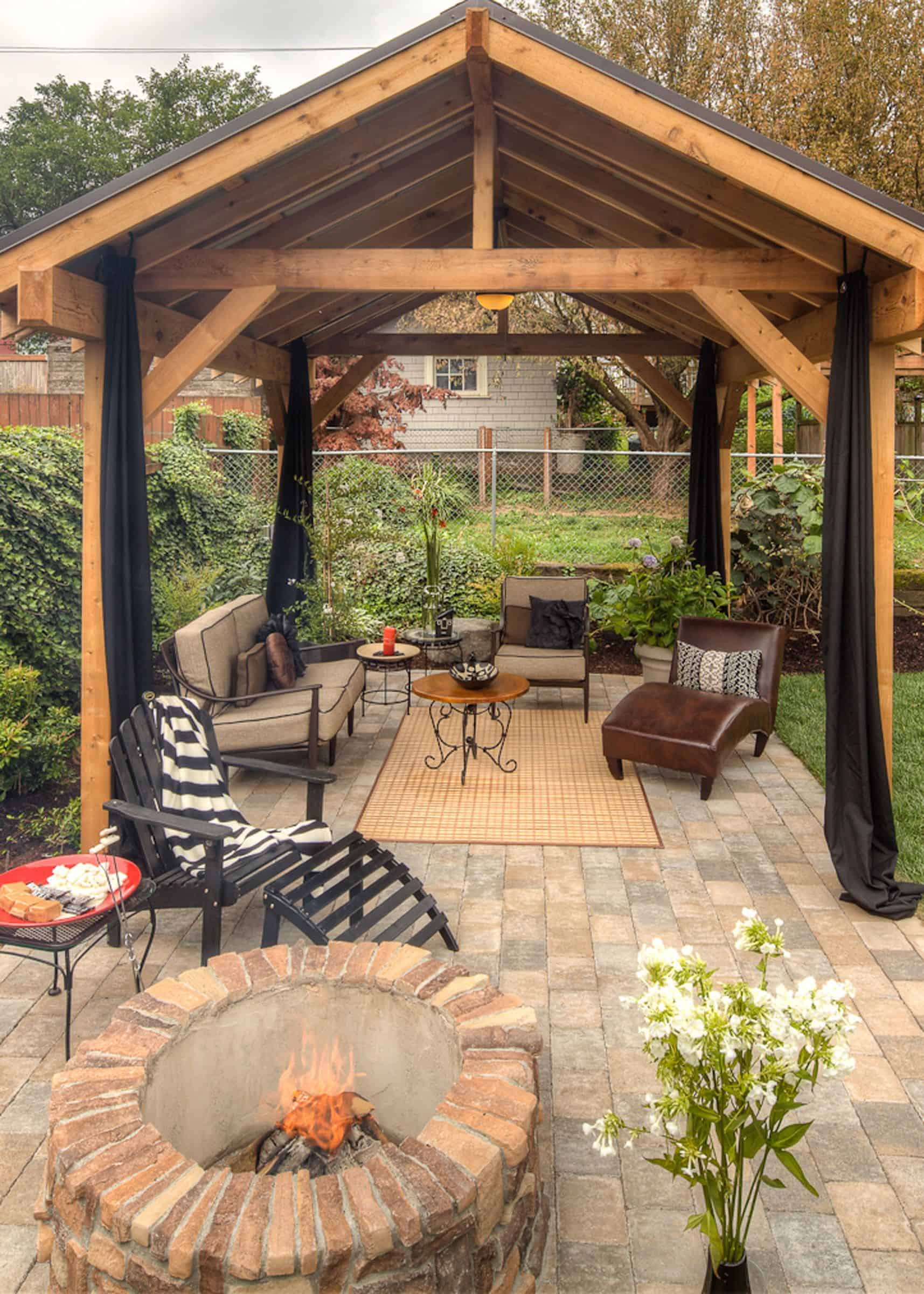 Curb appeal: Consider installing a gazebo to make an outdoor room