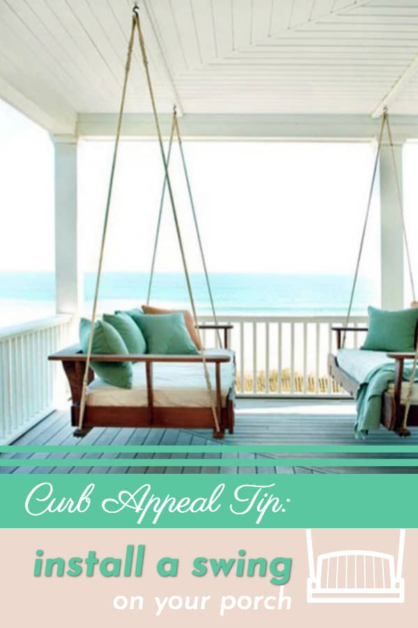 Curb appeal tip: Add a swing to your porch