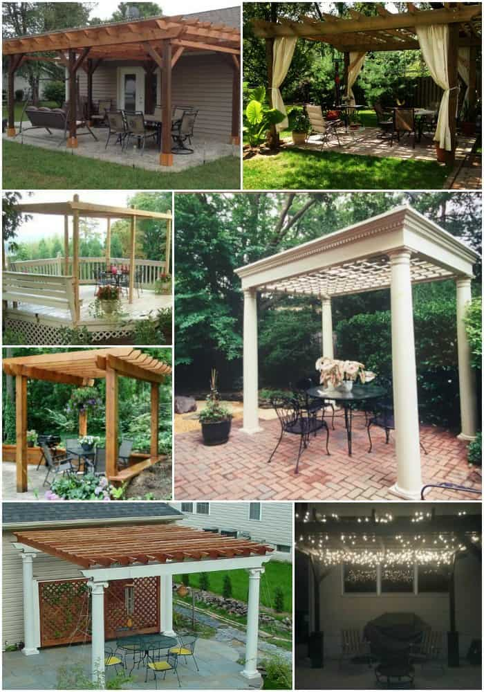 DIY pergola plans #pergola #diy #backyardLandscaping #backyardLandscapingIdeas #landscaping #backyard #outdoor