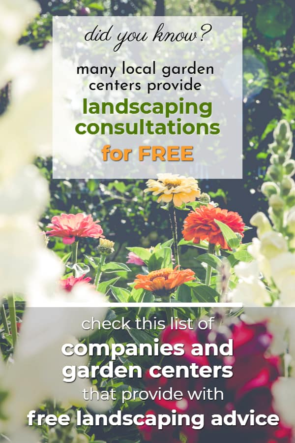 How to get free landscaping advice? Check out our list of garden centers and nurseries that can provide one  #backyardLandscaping #backyardLandscapingIdeas #landscaping #backyard #outdoor #cheapLandscapingIdeas