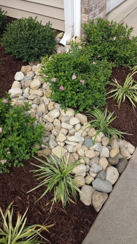 Dry river bed landscaping ideas: Small river beds look fantastic and solve drainage problems