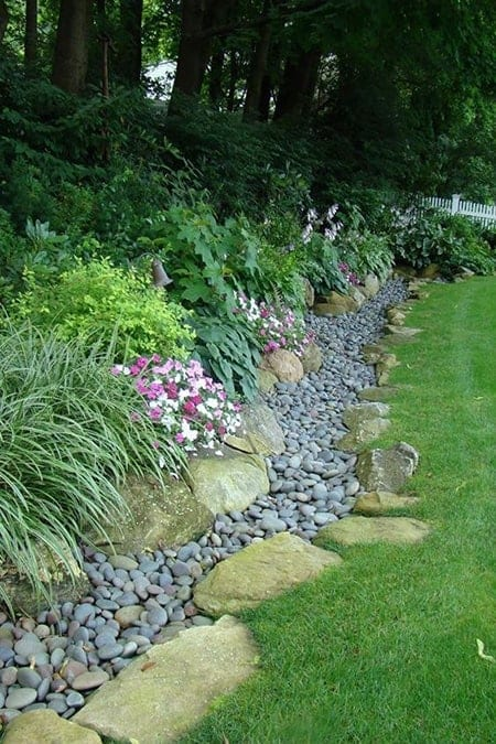 Dry river bed landscaping ideas: Flower Aisle