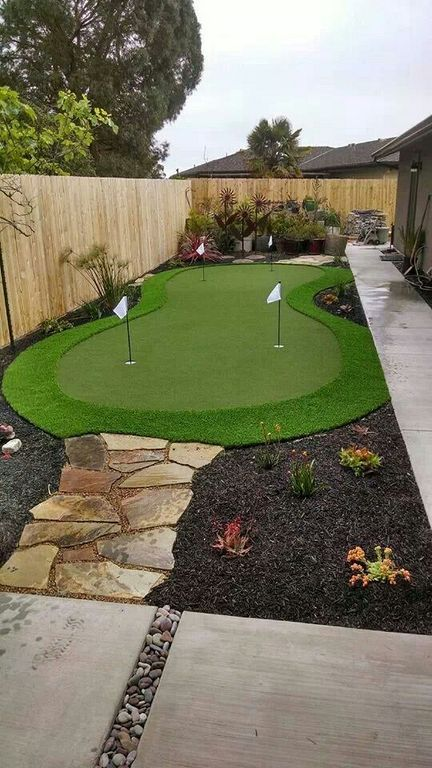 landscape with a golf course backyard design
