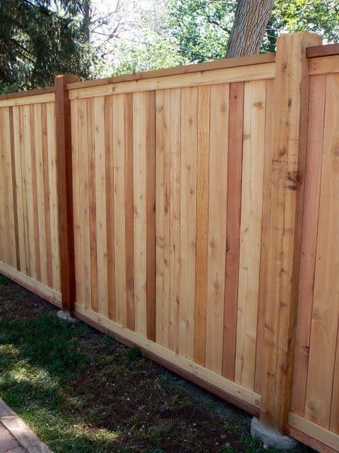 simple solid fence