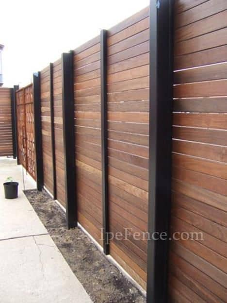 Modern Wood Fence Design