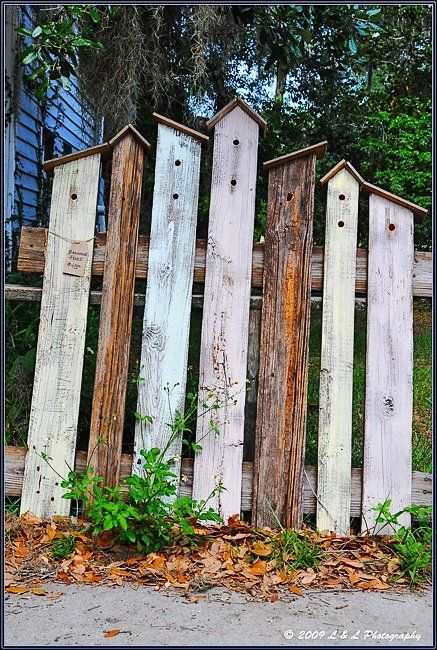creative rustic fence