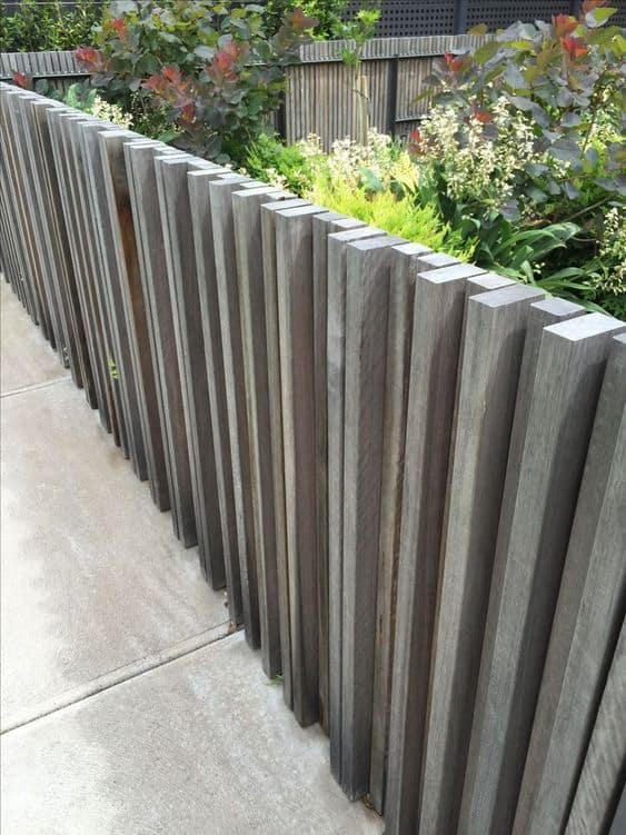 perfectly aligned horizontal slats for a rustic fence