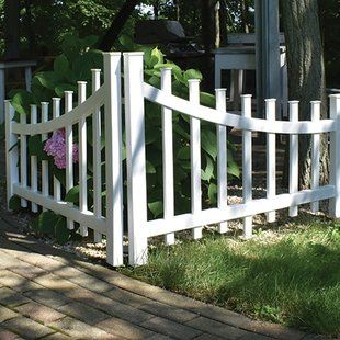 White picket fence with flat top style