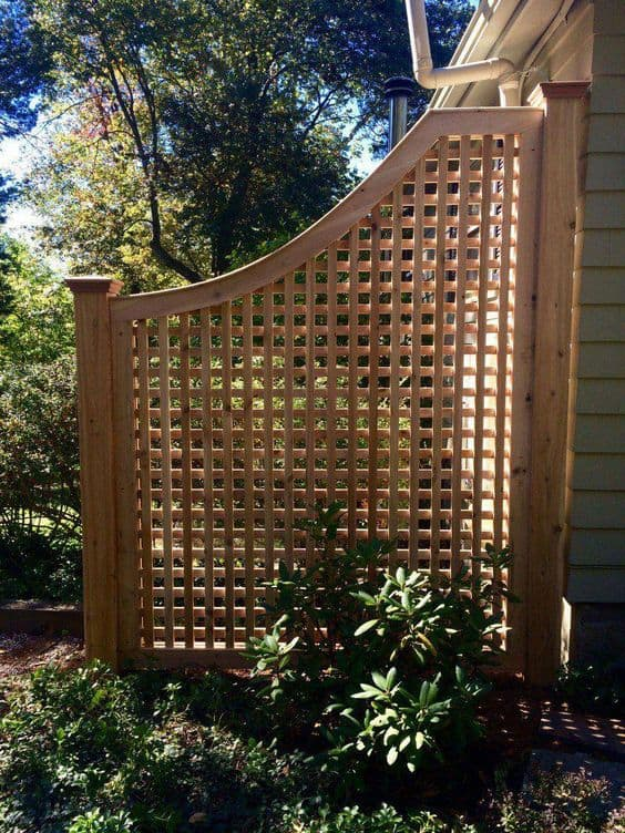 Cedar criss cross fence