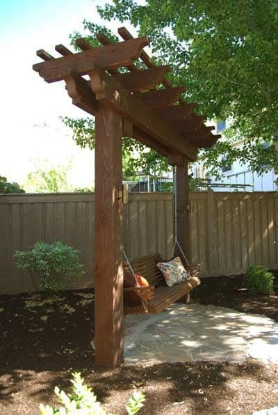 sturdy arbor swings  #arbor #backyardLandscaping #backyardLandscapingIdeas #landscaping #cheapLandscapingIdeas #backyard #landscaping #pergola