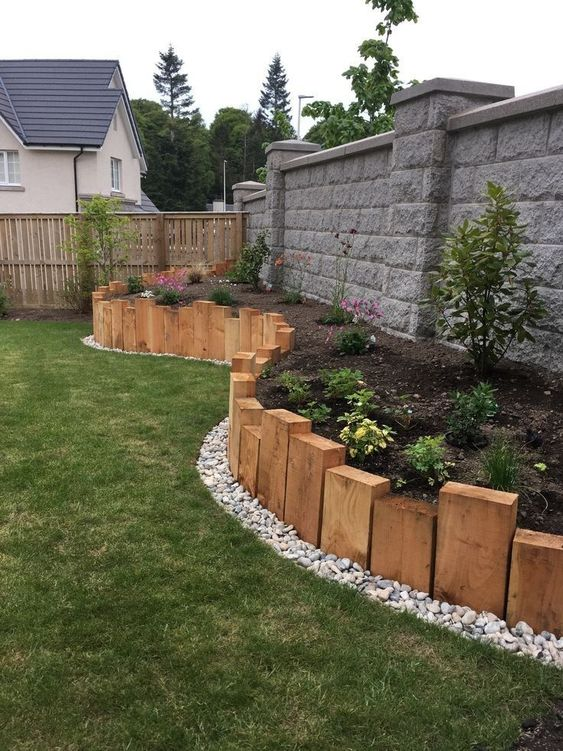 Elevated garden beds with wood design  #flowerbeds #flowers #garden #backyardLandscaping #backyardLandscapingIdeas #landscaping #cheapLandscapingIdeas #backyard #landscaping #curbAppeal #curbAppeal