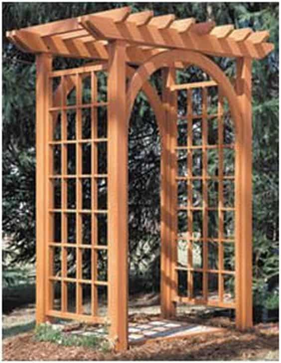 basic wood arbor #arbor #backyardLandscaping #backyardLandscapingIdeas #landscaping #cheapLandscapingIdeas