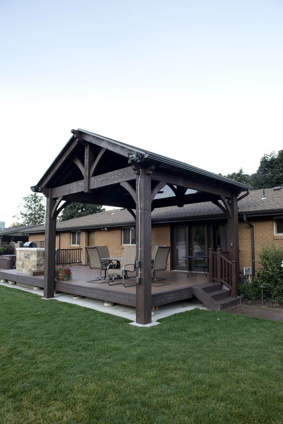 wooden shingle roof for a pergola #pergola #backyardLandscaping #backyardLandscapingIdeas #landscaping #cheapLandscapingIdeas #landscape #pavilion #curbAppeal #outdoorliving #outdoorShade