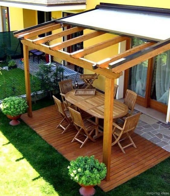 pergola cover that slides #pergola #backyardLandscaping #backyardLandscapingIdeas #landscaping #cheapLandscapingIdeas #landscape #pavilion #curbAppeal #outdoorliving #outdoorShade