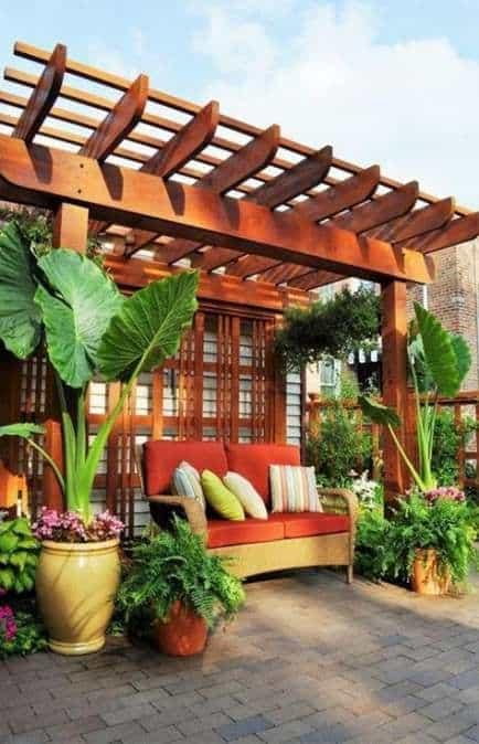 double-layer wood pergola cover#pergola #backyardLandscaping #backyardLandscapingIdeas #landscaping #cheapLandscapingIdeas #landscape #pavilion #curbAppeal #outdoorliving #outdoorShade