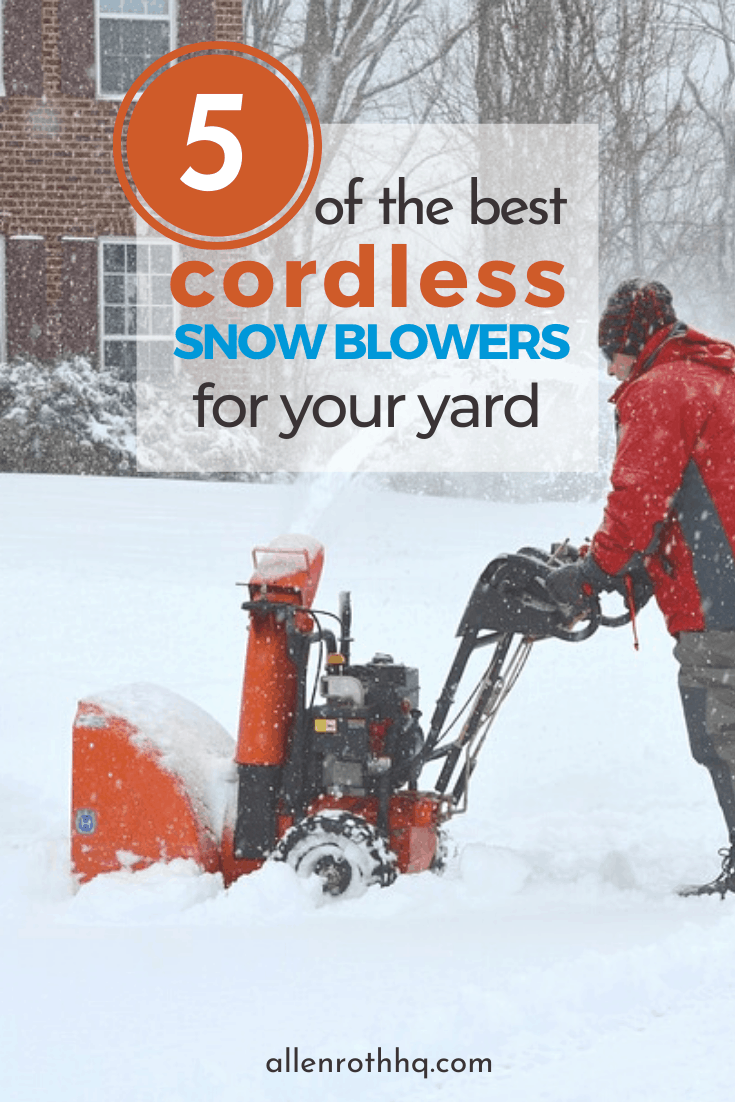 5 of the best cordless snowblowers