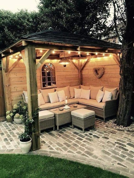 #ropeLights #stringLights #pendantlight #gazebo #gazeboideas #backyardGazebo #backyardLandscaping #backyardLandscapingIdeas #landscaping #landscape #lighting #lights #backyardLighting #outdoorLights