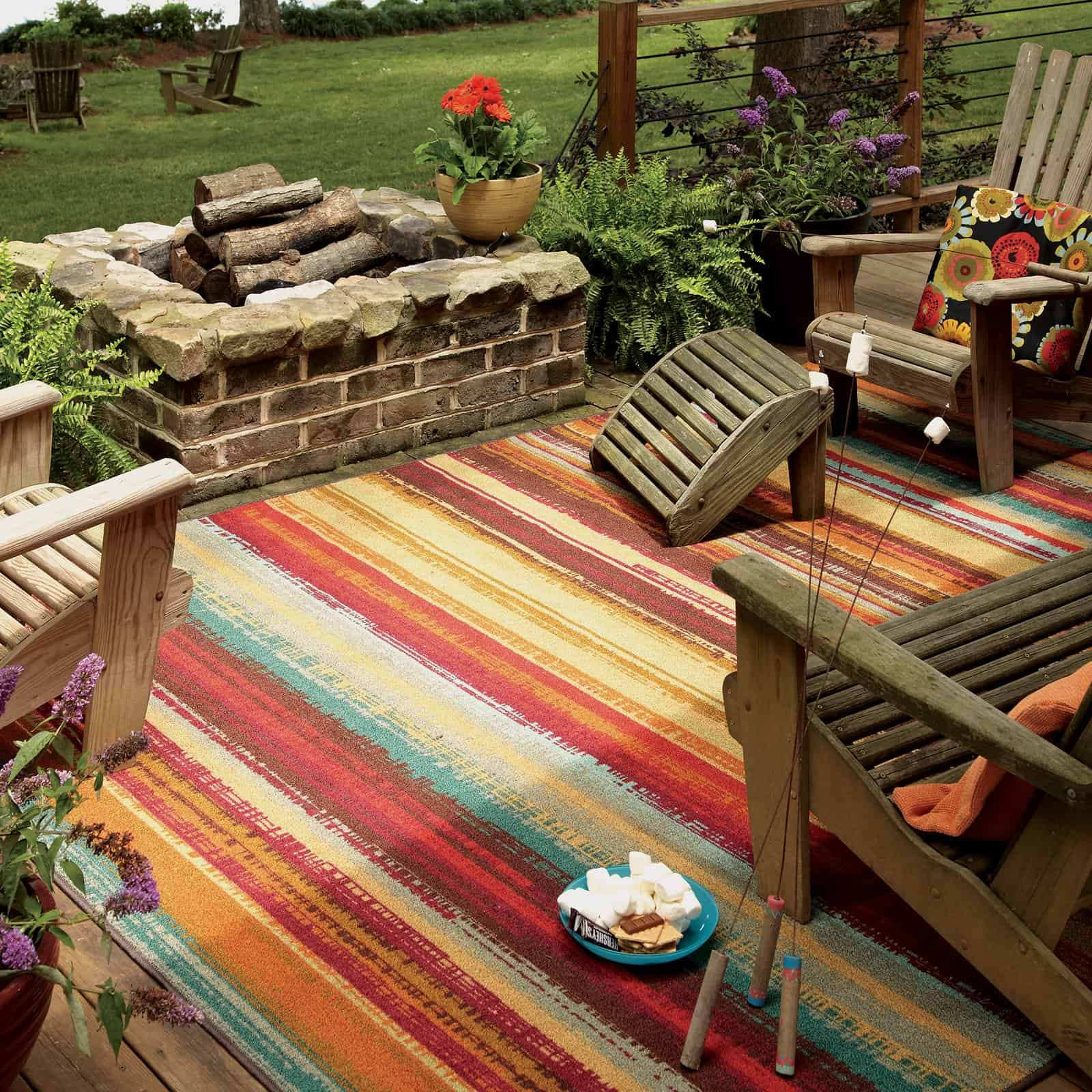 Nylon material outdoor rug