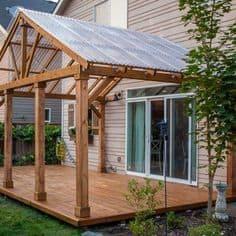 a modern gazebo attached to the house #gazeboideas #gazebo #pavillion #pavilion #backyardGazebo