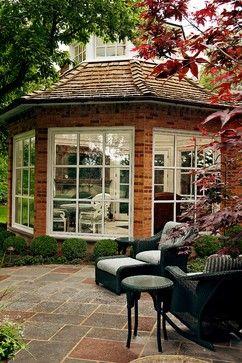 a brick gazebo with an outdoor room #gazeboideas #gazebo #pavillion #pavilion #backyardGazebo #patioFurniture #outdoorSpace #outdoorRoom