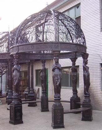 a wrought iron gazebo #gazeboideas #gazebo #pavillion #pavilion #backyardGazebo