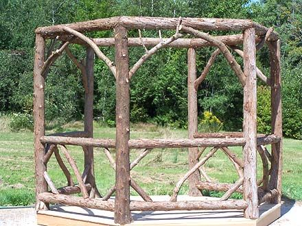 a log gazebo #gazeboideas #gazebo #pavillion #pavilion #backyardGazebo