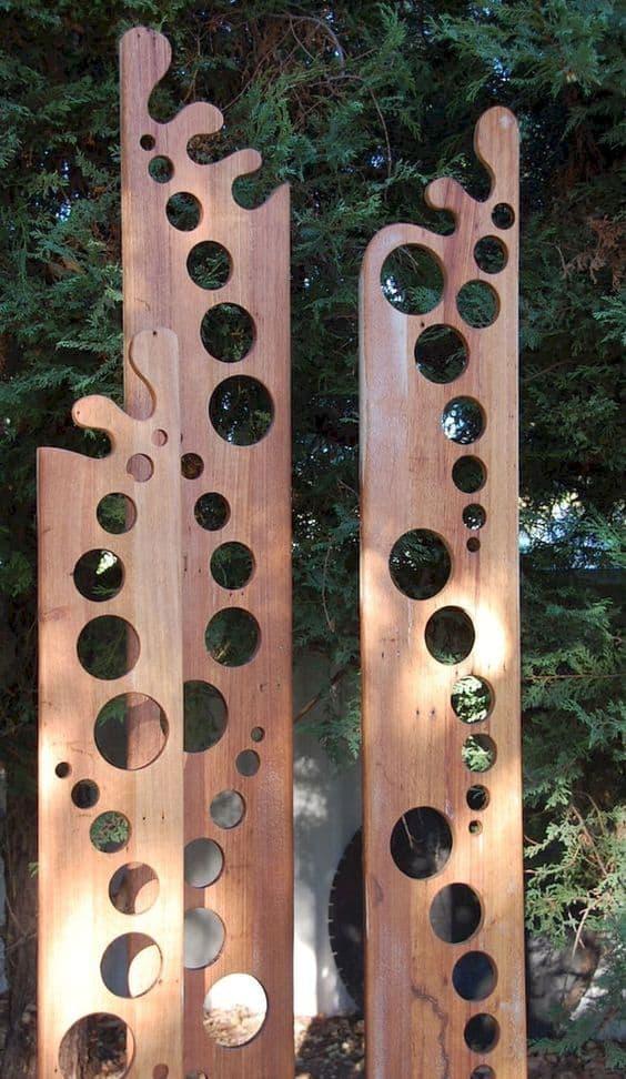 Abstract wooden art sculptures #gardenSculptureIdeas #garden #landscaping #sculpture