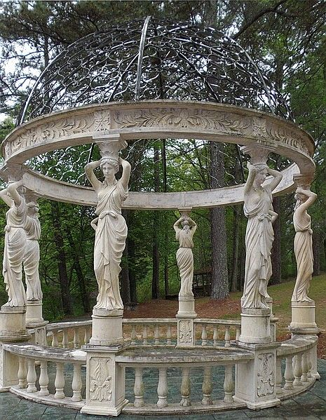 a stone gazebo #gazeboideas #gazebo #pavillion #pavilion #backyardGazebo