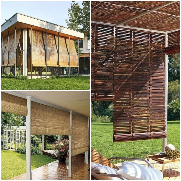 Bamboo Rolls for Patio Walls