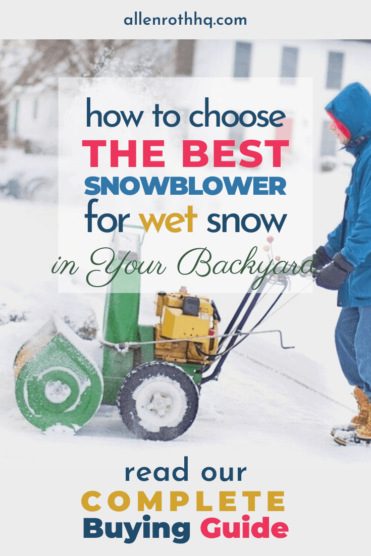 Best snow blower for wet snow in your backyard #backyard #snowblower #snow #winter